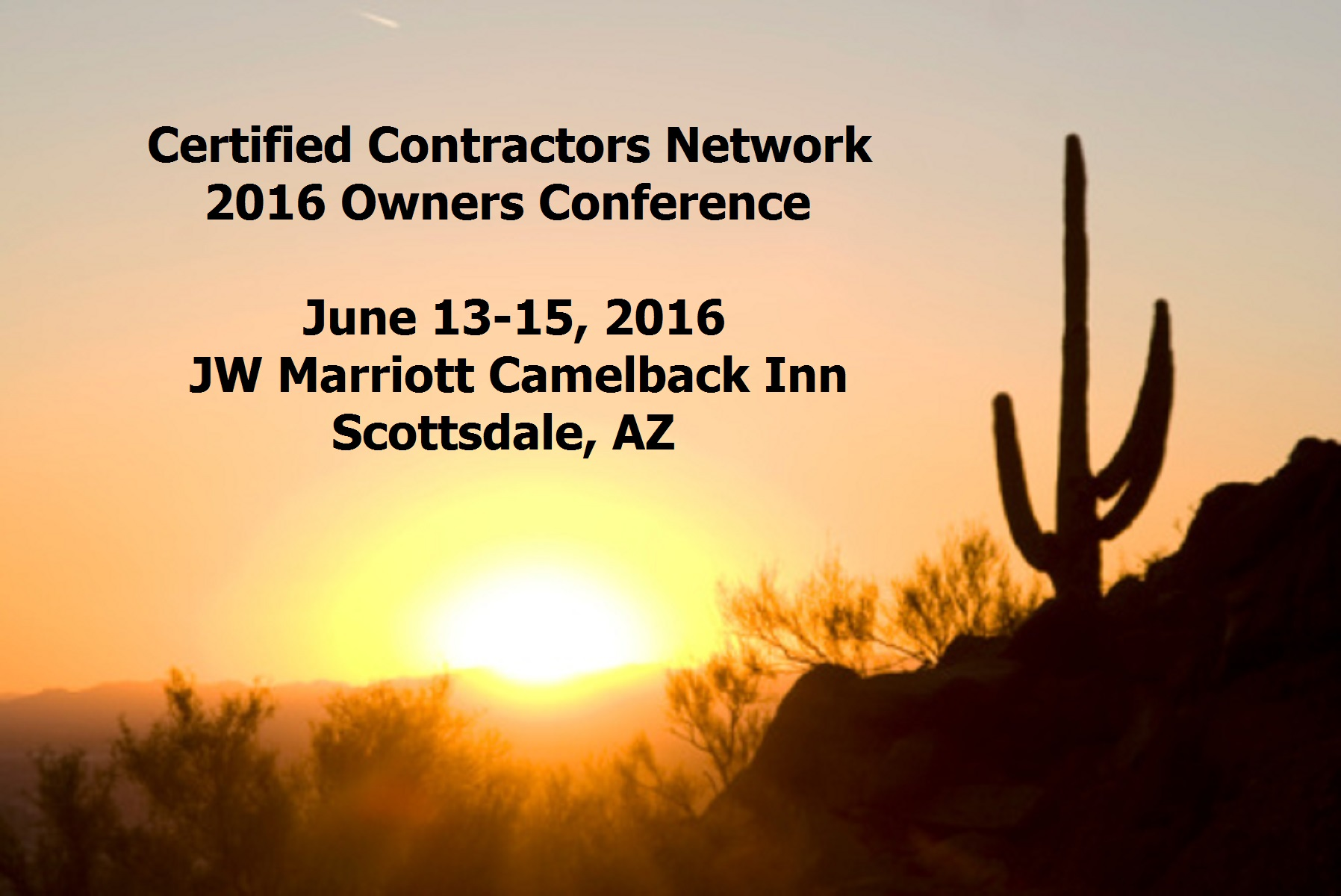 2016 owners summit certified contractors network for Contractors network